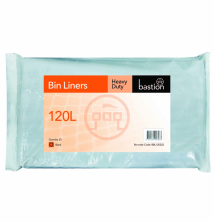 120L Heavy Duty Bin Liners - Black