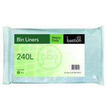 240L Heavy Duty Bin Liners - Black