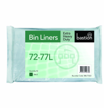 72-77L Extra Heavy Duty Bin Liners - Black