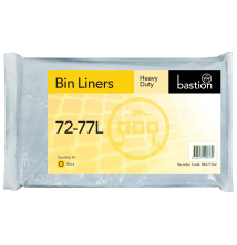 72-77L Heavy Duty Bin Liners - Black