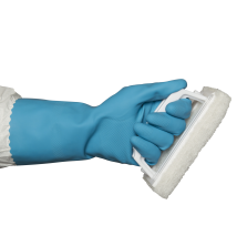 Silverlined Rubber Gloves - Blue