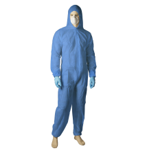 Polypropylene Coverall - White/Blue