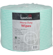 Heavy Duty Wipes - Rolls - Green - 300m - Sheet Size 30x50cm
