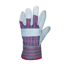 Candy Stripe Leather Gloves