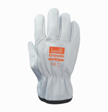 Granada - Cut 5 - Premium A Grade Cow Grain Natural Leather Riggers Gloves