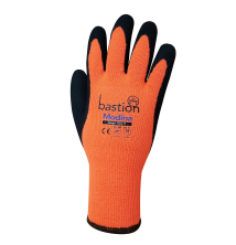 Modina | Orange Acrylic Thermal Gloves Black Sandy Latex Coating