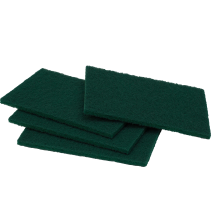 Regular Duty Scour Pads - Green - 150mm x 230mm x 10mm