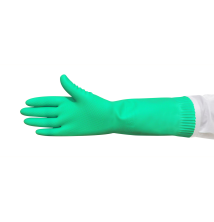 Premium Silverlined Rubber Gloves - Green
