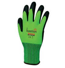 Soroca - High Vis Green HPPE Gloves Black Micro Foam Nitrile Palm