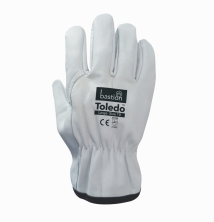 Toledo - Premium A Grade Cow Grain Natural Leather Riggers Gloves